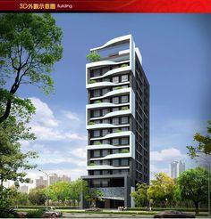 天作之合 Building Elevation, Building Facade, Building Design, House Outside Design, House Front Design, Facade Design, Exterior Design, Modern Apartment Design, Future Buildings