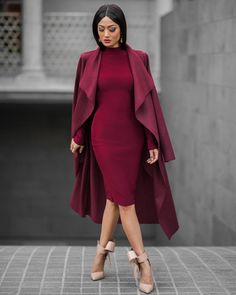 Burgundy Outfit styled by Micah Gianneli Style Work, Mode Style, Dress Outfits, Fashion Outfits, Womens Fashion, Fashion Trends, Dresses, Fashion Skirts, Fashion Shoes