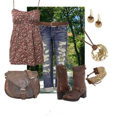 """""""Country Road Wear"""" by steelpinkdaisy on Polyvore"""