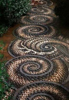 Swirl Rock garden! Love it!