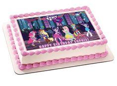 My Little Pony Equestria Girls Edible Birthday Cake OR Cupcake Topper – Edible Prints On Cake (EPoC)