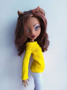 17 in Monster High Doll Clothing. Bright Yellow Knit Sweater | Etsy