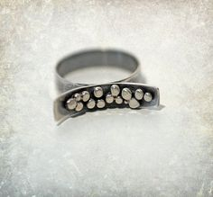 Contemporary Sterling Silver Ring Zen Simplicity Serenity Abstract Funky WoodridgePlace
