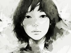 by Tae / たえ. Beautiful face