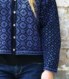 Knitting Pattern- Rose Trellis Cardigan, Designer: Donna Kay