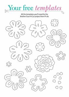 Brother Scan N Cut templates - Papercraft Inspirations lasercutfiles Diy Vinyl Projects, 3d Paper Projects, Paper Crafts, Circuit Projects, Wood Crafts, Pop Up Flower Cards, Flower Boxes, Paper Cutting Templates, Card Templates