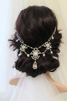 New Art Deco Wedding Hair Piece 21 Ideas Vintage Headpiece, Headpiece Wedding, Bridal Headpieces, Bohemian Headpiece, Bridal Comb, Art Deco Hair, Art Deco Wedding, Wedding Ideas, Wedding Planning