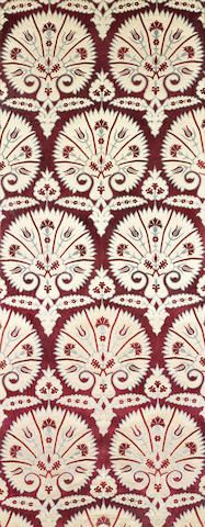 An Ottoman style voided velvet Panel  Venice, probably Fortuny, late 19th Century