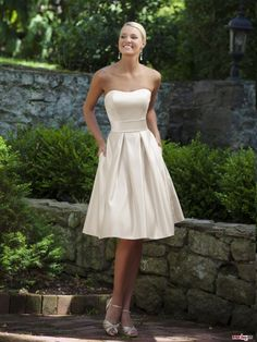 Buy Custom Made High Quality NEW Spring Princess Sweetheart Ruffles Sleeveless Knee-length Satin Bridesmaid Dresses Under 100 WPBD-7069 at wholesale cheap prices from Bridal-Buy.com