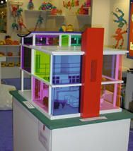 The Kaleidoscope House is an interactive creative play environment for 6 year olds and above.