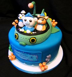 Octonaut Cake....OMG!!!! We love the Octonauts!!!!
