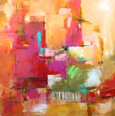 "ABSTRACT ORIGINAL PAINTING  'Juncture'  36"" x 36"" x 1.5""  Modern Art by Contemporary Artist Elizabeth Chapman"