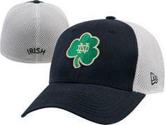 M L Notre Dame Fighting Irish New Era Navy White Alt Shamrock 39THIRTY  Semester 4020558ec8b