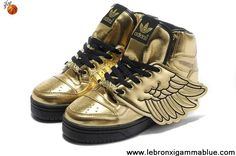 Latest Listing Discount Adidas X Jeremy Scott Wings Shoes Gold Sports Shoes Store
