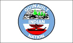 The seal, which appears on the plain white field of the flag, is a light blue ring with QUINAULT at the top, NATION at the bottom, and INDIAN across the center on a light blue bar, all in white