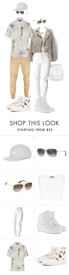 """""""Untitled #49"""" by ms-hinds ❤ liked on Polyvore featuring Herschel Supply Co., Ray-Ban, (+) PEOPLE, MICHAEL Michael Kors, Louis Vuitton and Versace"""