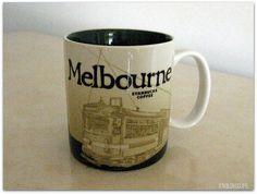 From my husband's business trip Starbucks City Mugs, Global Icon, Melbourne, Australia, Business, Heart, Tableware, Chocolates, Dinnerware