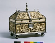 Casket |  Cordoba, Spain (or, made) Cuenca, Spain  Date: 1000-1025 (made)  17th century-18th century (altered)