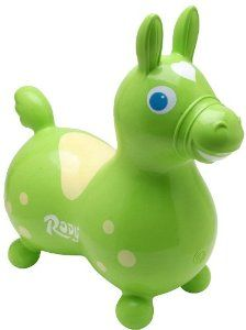 Amazon.com: Gymnic / Rody Inflatable Hopping Horse, Lime: Toys & Games