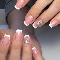 Trendy Wedding Manicure: Ideas for 2018 French Manicure Gel Nails, Moon Manicure, Nude Nails, French Nails, Diy Nails, Manicure Ideas, Wedding Manicure, Wedding Nails Design, Nail Picking
