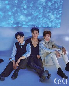 """MONSTA X Minhyuk, Shownu and Hyungwon for Céci (December issue) Full article: Céci"""