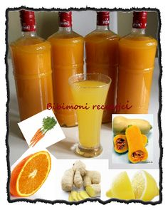 Bibimoni Receptjei: Vitamin-szörp Cocktails, Drinks, Hot Sauce Bottles, Drinking Tea, Smoothies, Vitamins, Food And Drink, Cooking Recipes, Ice Cream