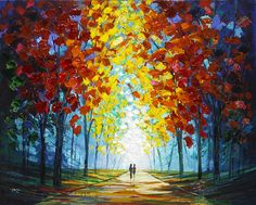 """""""Lovers in the Park"""" by Slava Ilyayev - Park West Gallery"""