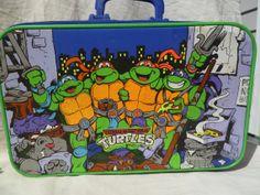 Vintage Teenage Ninja Turtle Suitcase Very by silverliningtoys, $39.95