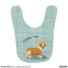 Protect your bundle of joy's clothing with Dog baby bibs from Zazzle. Choose from an array of designs and colors to ensure this bib stands out! Design Mignon, Baby Dogs, Bibs, Baby Gifts, Corgi, Cute, Kawaii, Unique, Baby Newborn