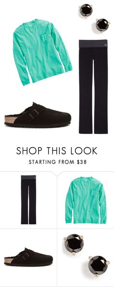 """thursday baby"" by kcwesterbeek on Polyvore featuring Victoria's Secret, Vineyard Vines, Birkenstock and Kate Spade"