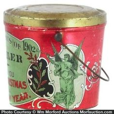 Christmas Holiday Candy Pail
