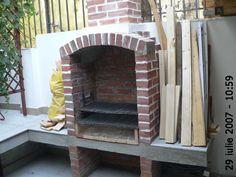 Cuptor de grădină - Capisci Outdoor Fireplace Patio, Outdoor Kitchen Patio, Outdoor Patio Designs, Outdoor Oven, Outdoor Kitchen Design, Barbeque Design, Grill Design, Outdoor Barbeque, Backyard Barbeque