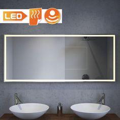 LED badkamerspiegel met warmwitte design LED verlichting en ...