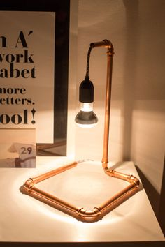 DIY Anleitung für Kupferlampe mit Textilkabel