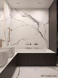 Studio › Functional flat in Kyiv Bathroom Design Luxury, Modern Bathroom Decor, Home Room Design, Home Interior Design, Toilet Room Decor, Apartment Interior, White Apartment, Minimalist Bathroom, Bathroom Inspiration