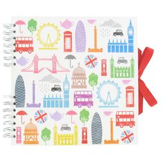 london icons square scrapbook - for the guestbook