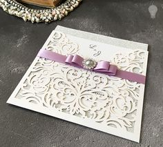 How To Make … Sparkling Laser Cut Wedding Stationery DIY wedding invitation. How to make your own wedding invitations. Silver glitter with pearl. Laser cut invitations from Imagine DIY. Make Your Own Wedding Invitations, Silver Wedding Invitations, Wedding Invitation Wording, Wedding Cards, Wedding Events, Invitation Kits, Diy Invitations, Invites, Laser Cut Wedding Stationery
