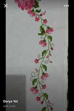 Cross Stitch Embroidery, Hand Embroidery, Cross Stitch Patterns, Cross Stitch Flowers, Blackwork, Needlework, Diy And Crafts, Sewing, Floral