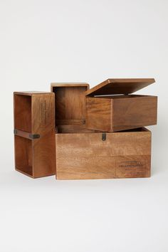 Wooden Storage Box - Beige/mango wood - Home All Decorative Storage Boxes, Wooden Storage Boxes, Wall Storage, Wood Boxes, Large Wooden Box, Wooden Box With Lid, Wooden Spoon, Conservation, Simple House Design