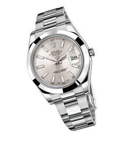 Rolex DateJust II http://www.vogue.fr/joaillerie/shopping/diaporama/montres-homme-en-acier/17035/image/899781
