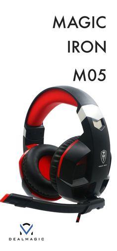 Magic Iron Gaming Headphones - with LED light - DealMagic Gaming Headphones, Gaming Headset, Iron, Magic, Games, Led, Hockey Helmet, Gaming, Toys