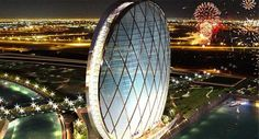 El Al-Dar es el primer edificio circular del mundo, consiste en un complejo residencial y hotel de cinco estrellas a las orillas del Golfo Pérsico.