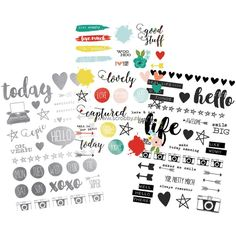 Simple Stories Life In Color Clear Stickers 4x6   €4.37