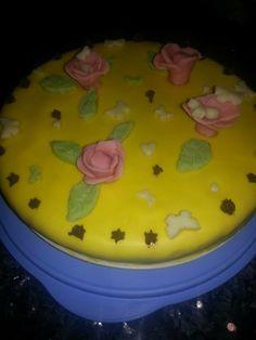 Gâteau jaune #fleurs