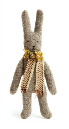 Lavender Bunnies with Winter Scarves