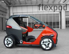 Microcar, Electric Car, Mobile Design, New Job, Innovation Design, Concept Cars, Cars And Motorcycles, Pedal Car, Bicycle