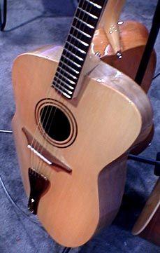 Burrell guitars have a twisted shape