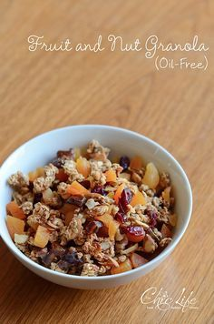 Oil-Free Fruit and Nut Granola Recipe
