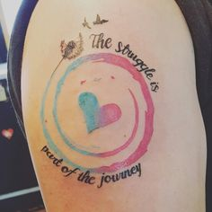 My infertility tattoo with two birds representing my 2 bfn!