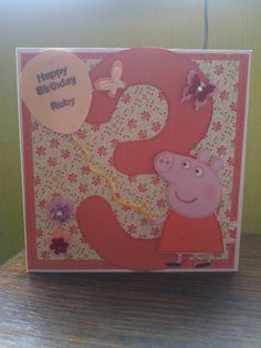 Peppa Pig Birthday Card